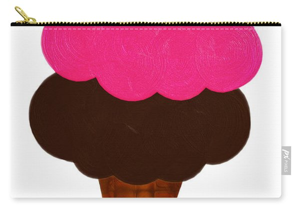 Raspberry And Chocolate Ice Cream Cone  Carry-all Pouch