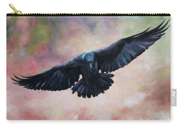 Raven In Flight Carry-all Pouch