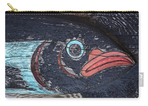 Raven Totem Figure Carry-all Pouch