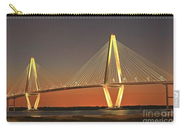 Ravenel Bridge At Dusk Carry-all Pouch
