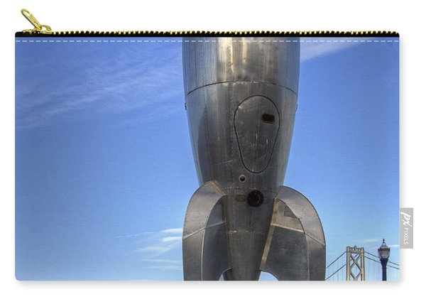 Raygun Gothic Rocketship Carry-all Pouch