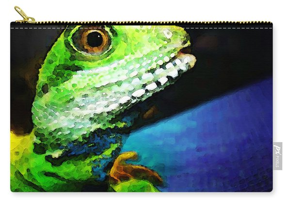 Ready To Leap - Lizard Art By Sharon Cummings Carry-all Pouch