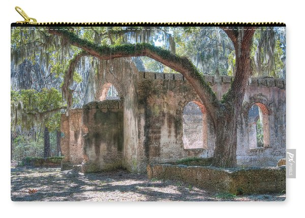 Rear View Of The Chapel Of Ease Carry-all Pouch