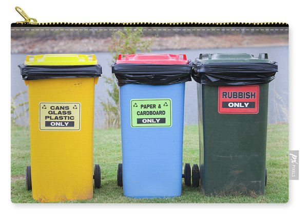 Recycling Bins In Jindabyne, Snowy Carry-all Pouch