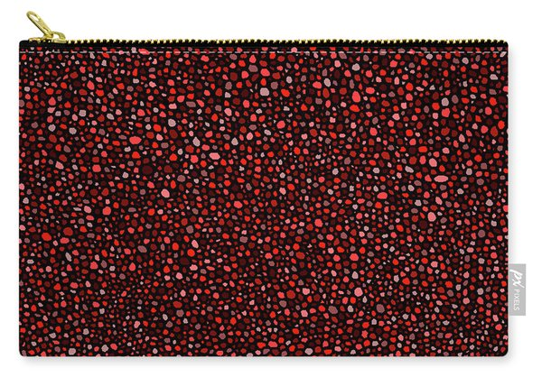 Red And Black Circles Carry-all Pouch