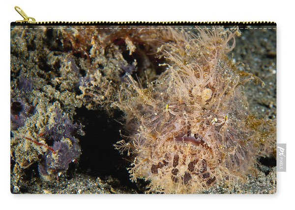 Red And Pink Striated Frogfish Carry-all Pouch