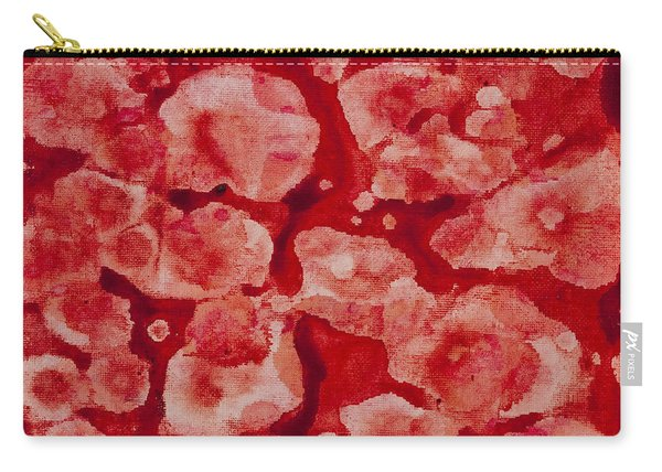 Red And White Carry-all Pouch