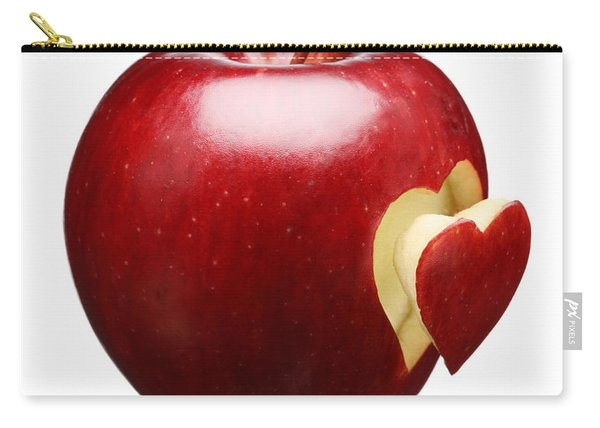 Red Apple With Heart Carry-all Pouch
