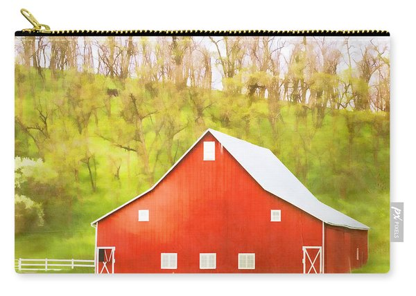 Red Barn Green Hillside Carry-all Pouch