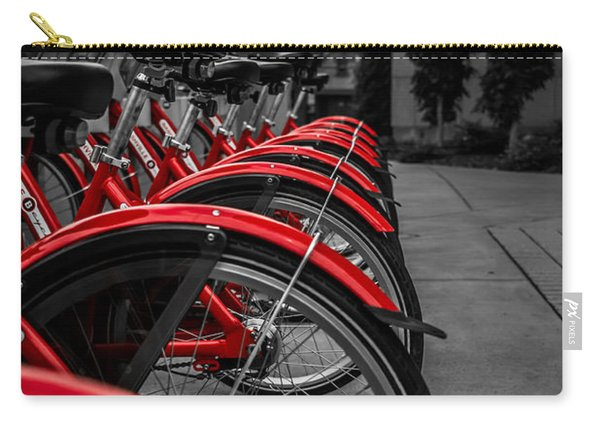 Red Bicycles Carry-all Pouch