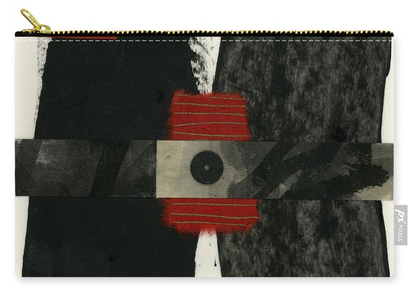 Red Black And White Collage 3 Carry-all Pouch
