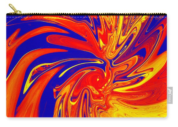 Red Blue Orange Red Yellow Swirl Carry-all Pouch