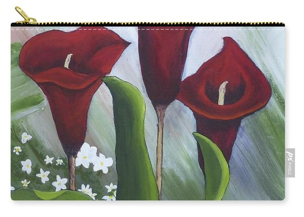 Red Calla Lilies Carry-all Pouch