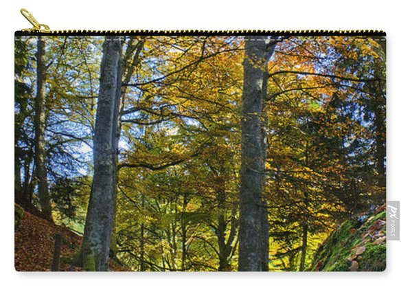 Red Carpet In Reelig Glen During Autumn Carry-all Pouch