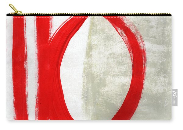 Red Circle 5- Abstract Painting Carry-all Pouch