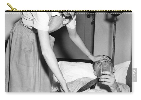 Red Cross Nurse With Patient Carry-all Pouch