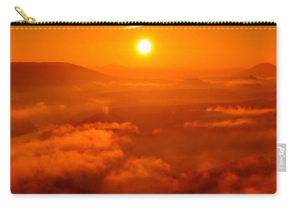 Red Dawn On The Lilienstein Carry-all Pouch