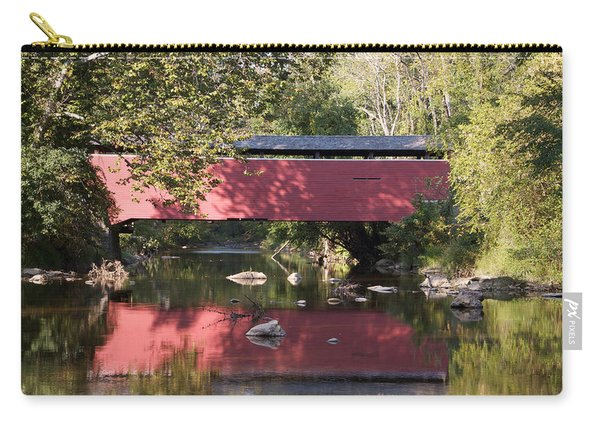 Red Fairhill Covered Bridge Two Carry-all Pouch