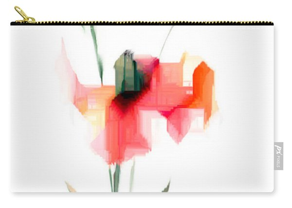 Red Flowers Carry-all Pouch