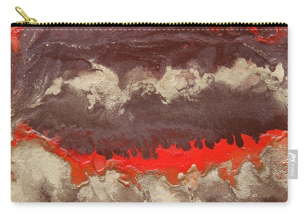 Red Gold And Brown Abstract Carry-all Pouch