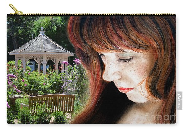 Red Hair And Freckled Beauty II Altered Version Carry-all Pouch