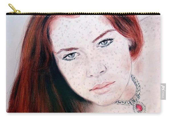 Red Hair And Freckled Beauty Remake Carry-all Pouch