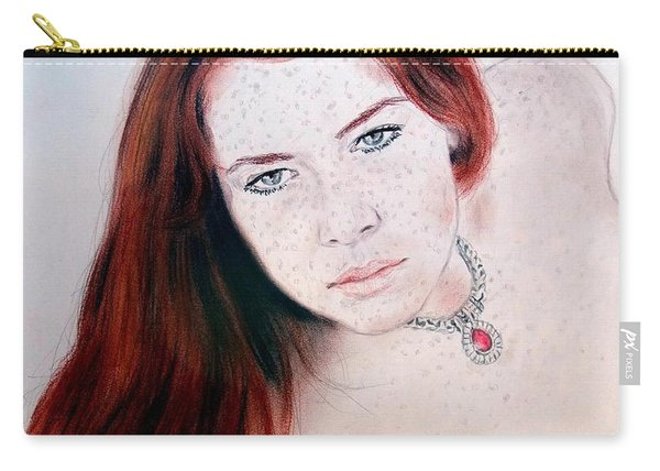 Red Hair And Freckled Beauty Remake Nude Carry-all Pouch