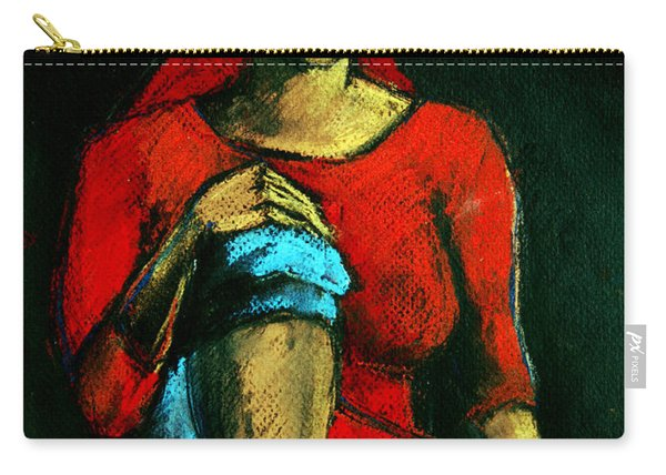Red Hair Woman Carry-all Pouch