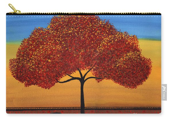Red Happy Tree Carry-all Pouch