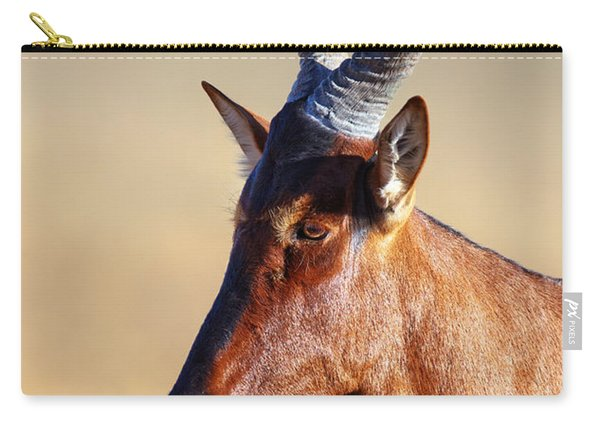 Red Hartebeest Portrait Carry-all Pouch