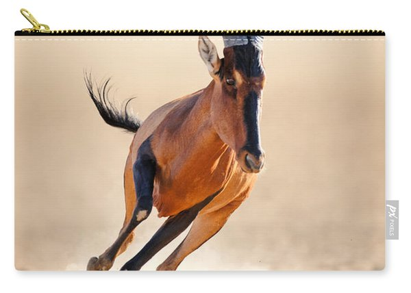 Red Hartebeest Running Carry-all Pouch