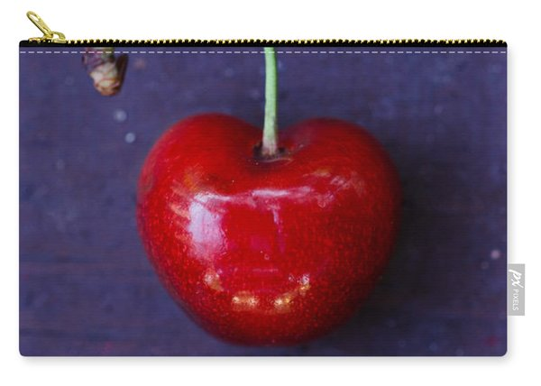 Red Heart Shaped Cherry Carry-all Pouch