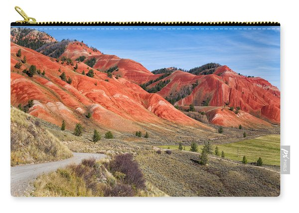 Red Hills Of The Gros Ventre Carry-all Pouch