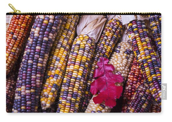 Red Leaf And Indian Corn Carry-all Pouch