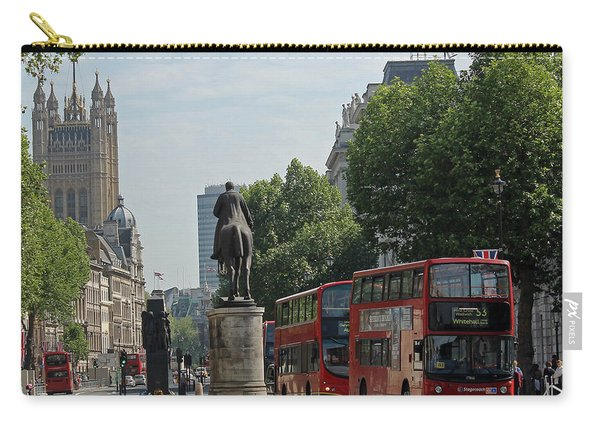 Red London Bus In Whitehall Carry-all Pouch