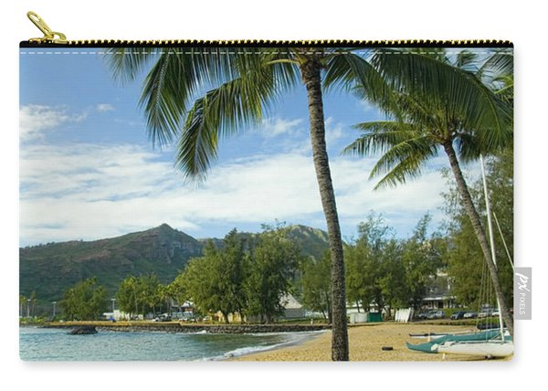 Red Outrigger Canoe In Kauai Carry-all Pouch