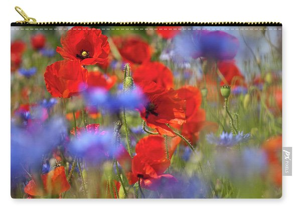 Red Poppies In The Maedow Carry-all Pouch