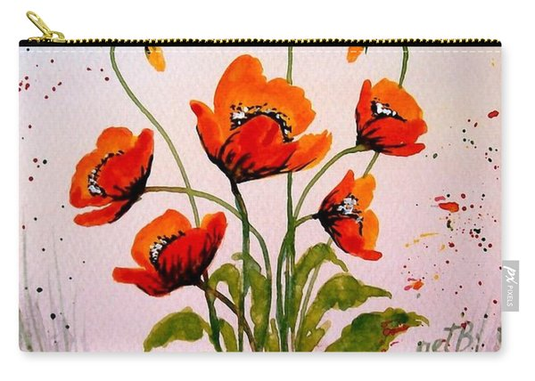 Red Poppies Original Watercolor  Carry-all Pouch