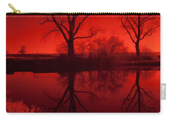 Red Reflections Carry-all Pouch