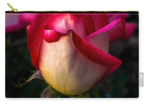 Red Rose Bud Carry-all Pouch