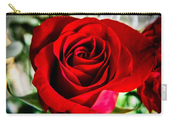 Red  Rose In Arrangement Carry-all Pouch