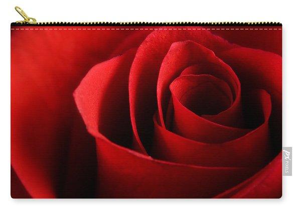 Red Rose Macro Carry-all Pouch