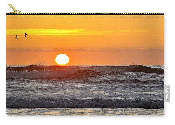 Red Sky At Night Sailors  Delight Carry-all Pouch
