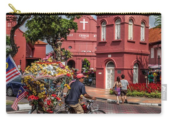 Red Square Malacca Carry-all Pouch