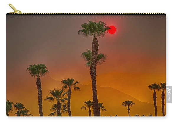 Red Sun Wild Fire Hdr Carry-all Pouch