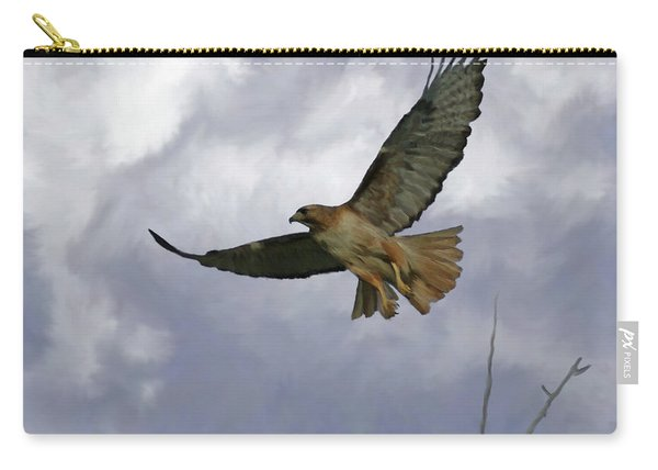 Red Tail Hawk Digital Freehand Painting 1 Carry-all Pouch