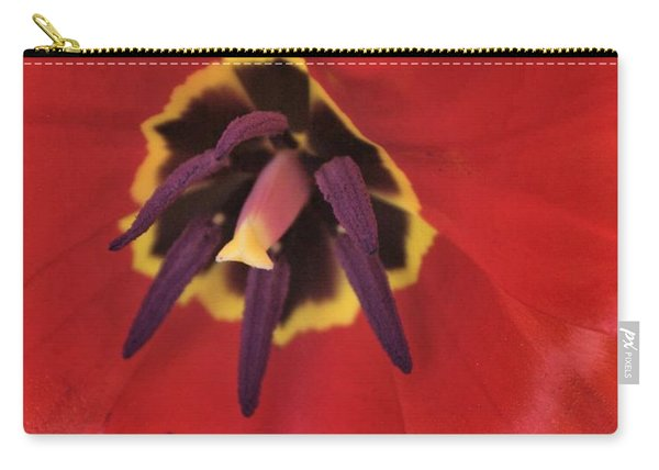 Red Tulip Detail Carry-all Pouch