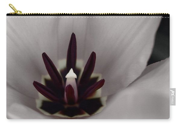 Red Tulip In Black N White Carry-all Pouch