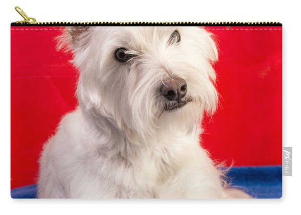 Red White And Blue Westie Carry-all Pouch