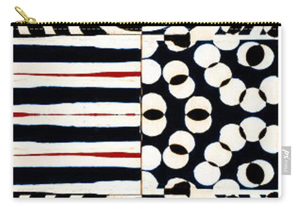 Red White Black Number 4 Carry-all Pouch